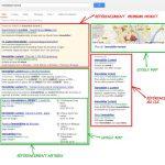 présentation des serps google