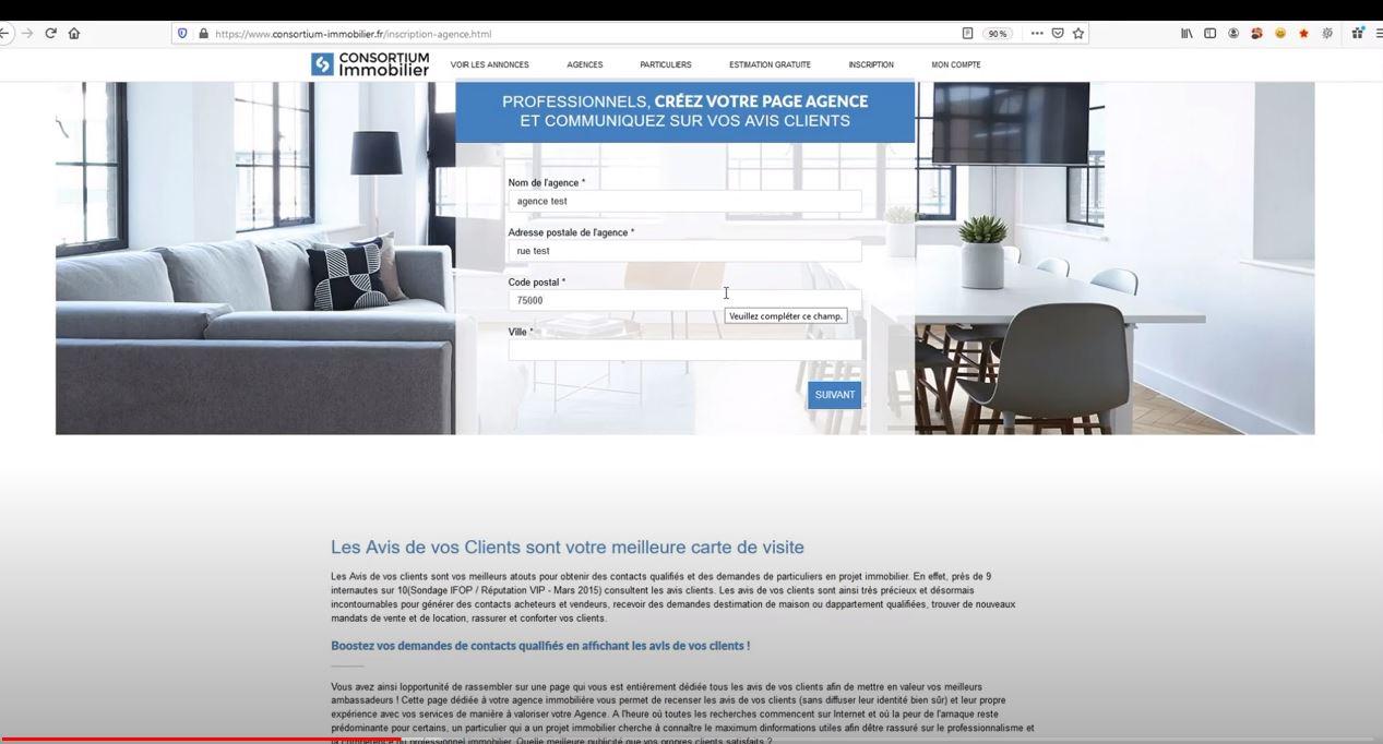 avis clients consortium immobilier