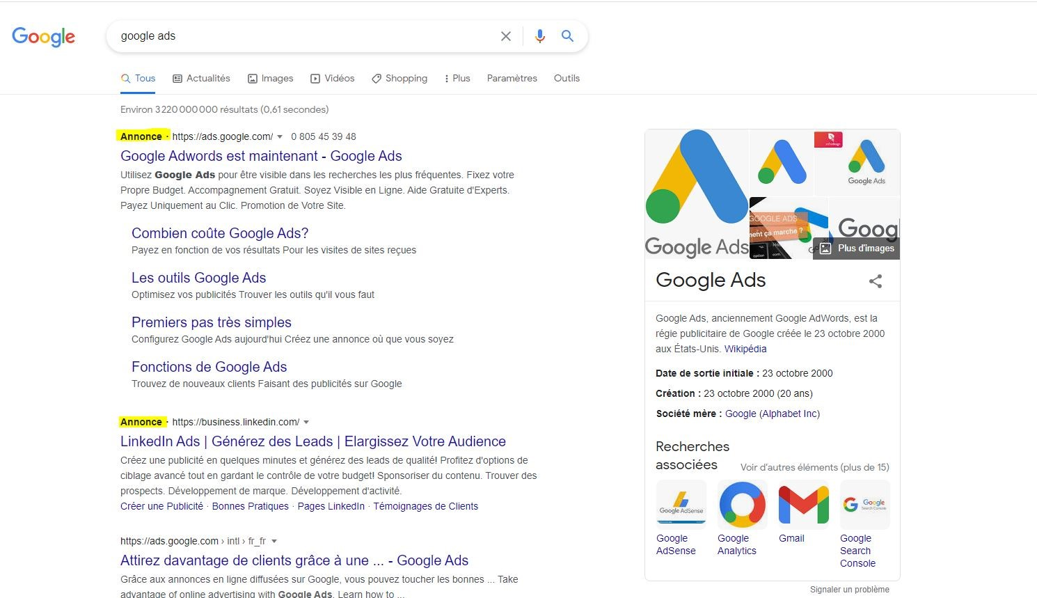 SEA google-ads immobilier