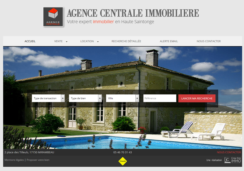 Cr ation site immobilier creer sites agence immobiliere for Agence immobiliere 74