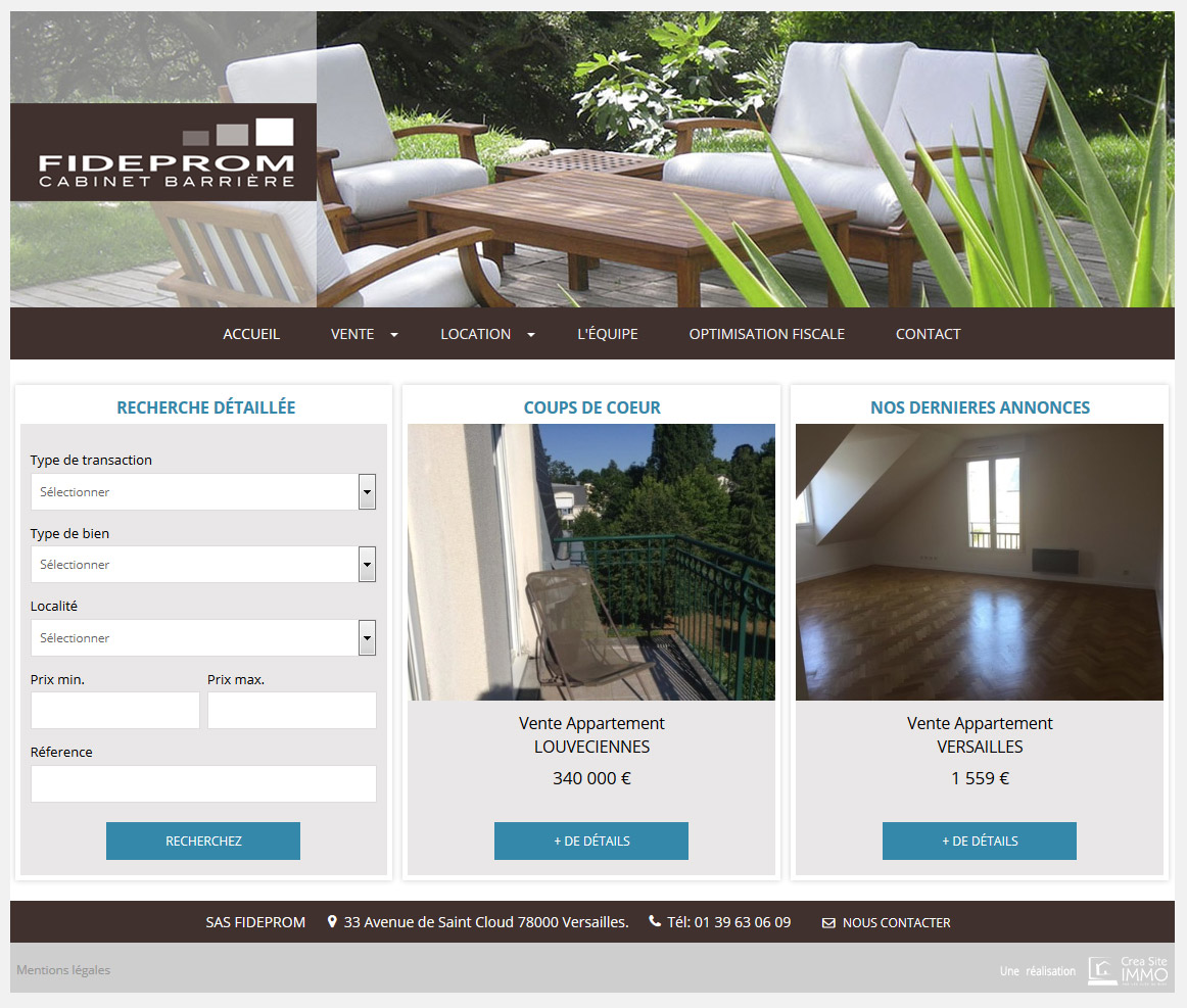 Cr ation site immobilier creer sites agence immobiliere for Site immobilier