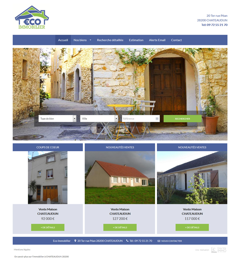 Cr ation site immobilier creer sites agence immobiliere for Immobilier site