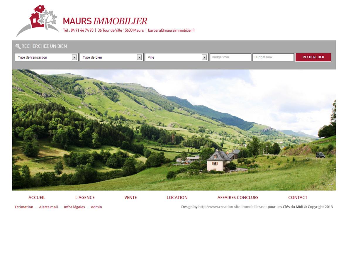 Creation de site internet pour agence immobiliere for Agence immobiliere site