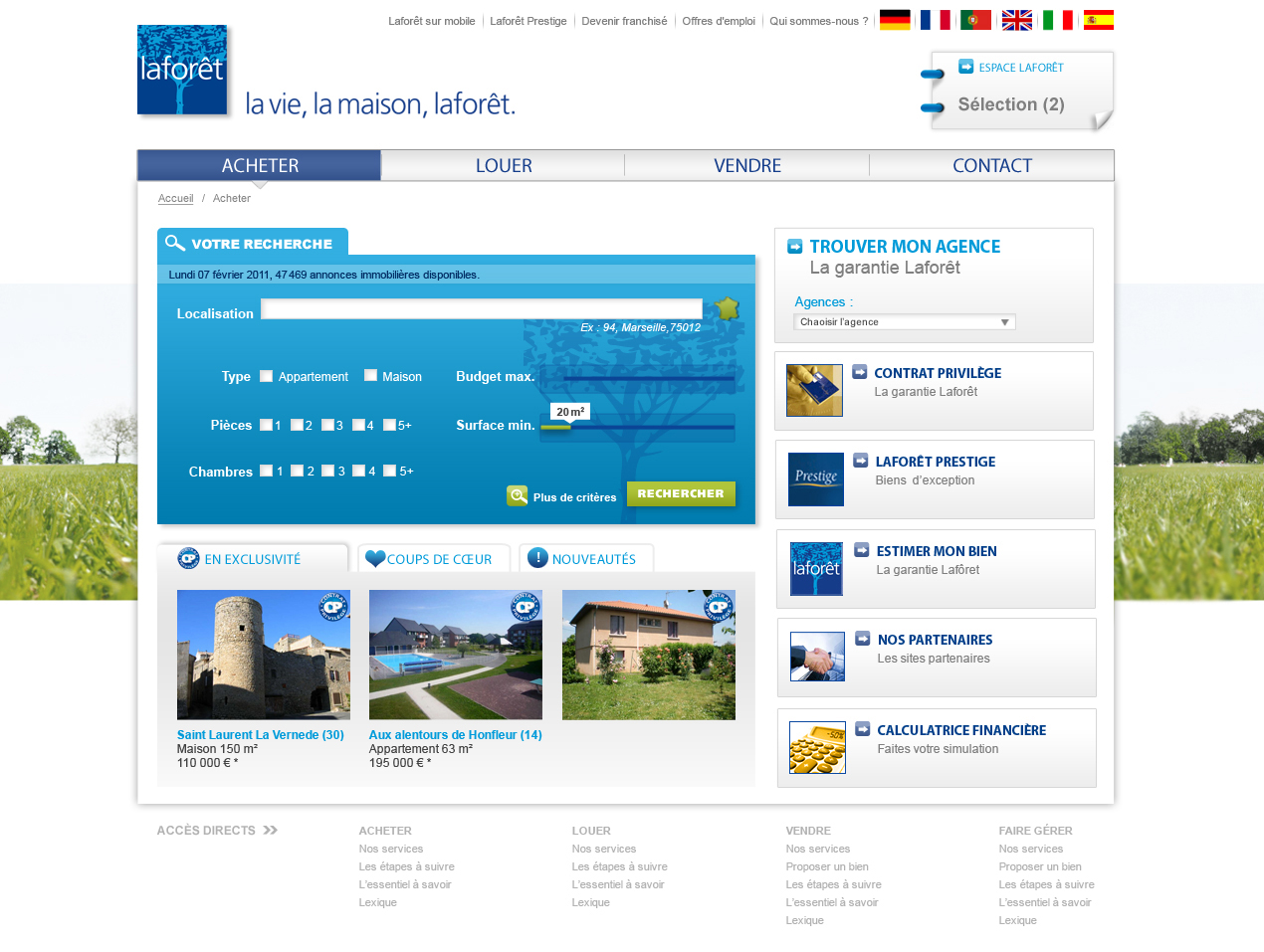 Laforet cr ation site agence immobili re laforet immobilier for Agence laforet