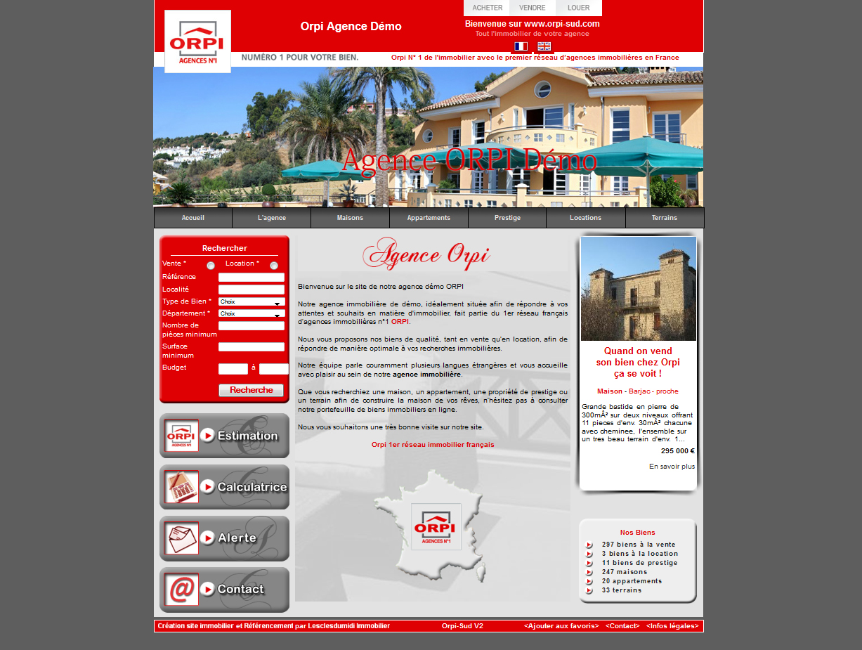 Orpi cr ation site agence immobili re orpi immobilier for Agence orpi location