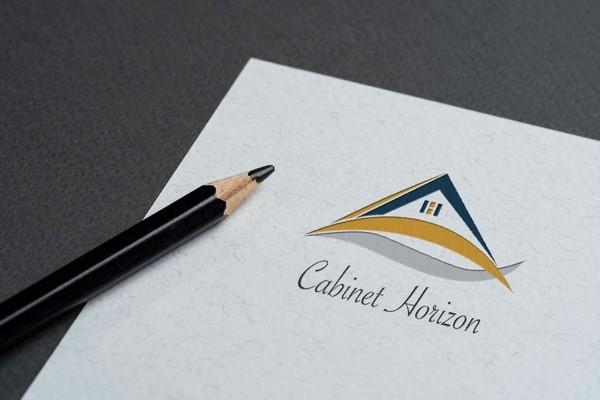 Papier en-tête logo Cabinet Horizon