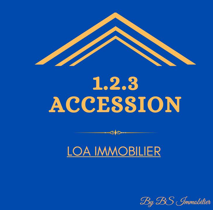 Carte de visite logo 123 Accession
