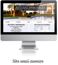 Creation site semi mesure