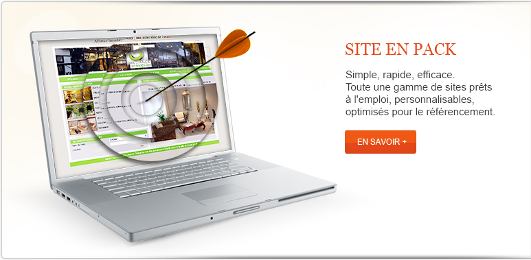 Cr�ation site agence immobiliere pack
